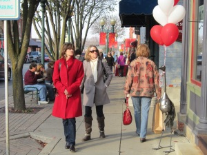 Wine Women Shopping  Red & White Balloons